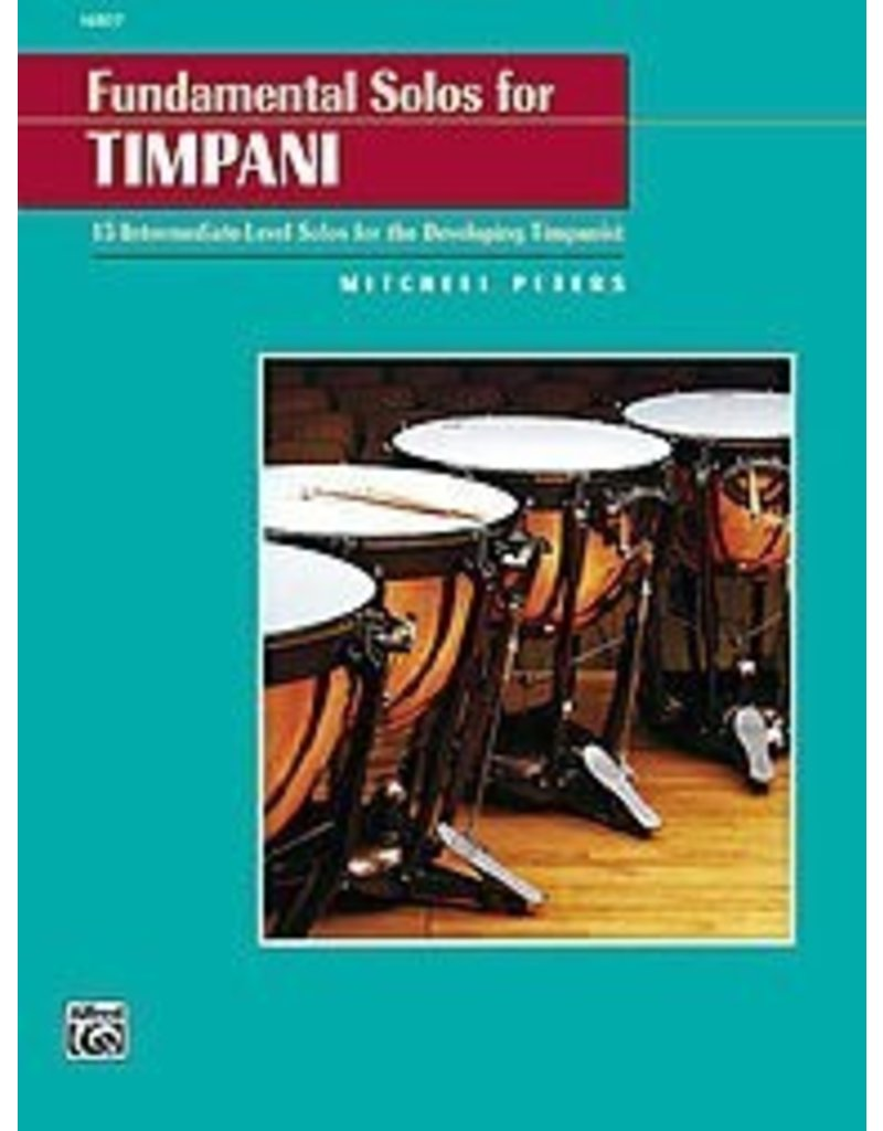 Alfred Music Fundamental Solos for Timpani, Mitchell Peters