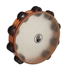 Black Swamp Percussion Tambourine avec peau Black Swamp S3 cerisier/laiton 10po