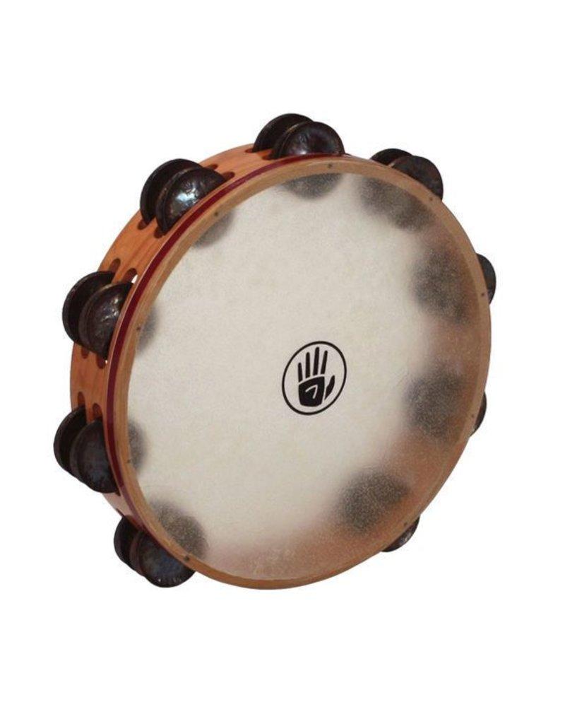Black Swamp Percussion TTambourine avec peau Black Swamp S3 cerisier/laiton 10po