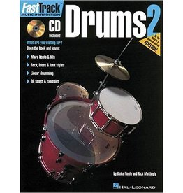 Hal Leonard FastTrack Drums Method - Book 2 by Blake Neely and Rich Mattingly Fast Track Music Instruction