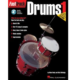 Hal Leonard FastTrack Drum Method - Book 1 by Blake Neely & Rick Mattingly Fast Track Music Instruction