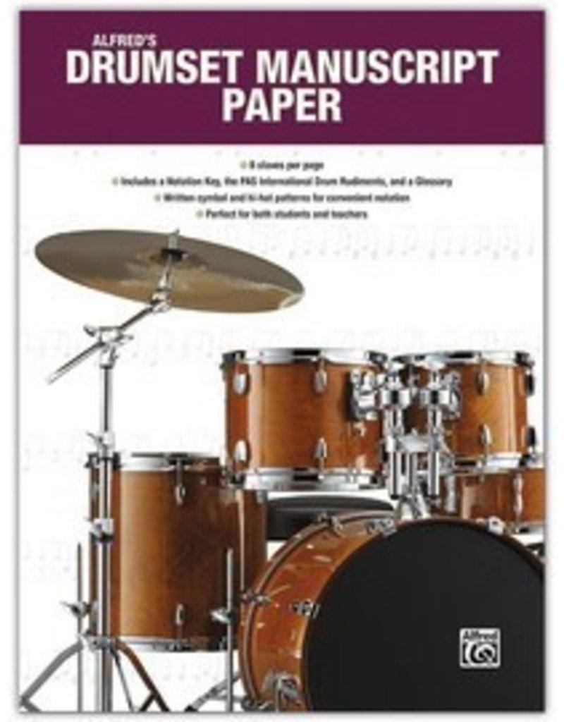 Alfred Music Papier manuscrit pour batterie