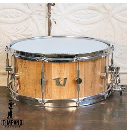 Unix Unix Spalted Maple Stave Snare Drum 14X6in