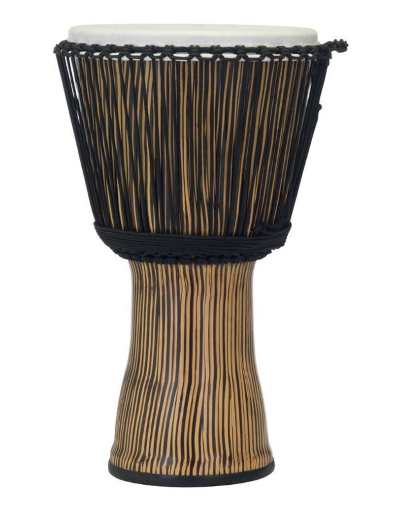 Pearl Djembe Pearl 12po avec corde Zebra Grass