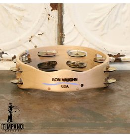 Ron Vaughn Ron Vaughn Maple/Silver Tambourine 8in