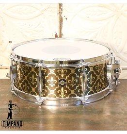 Q Drum Company Q Drum Brass Fleur-de-lys Snare Drum 14X5.5in