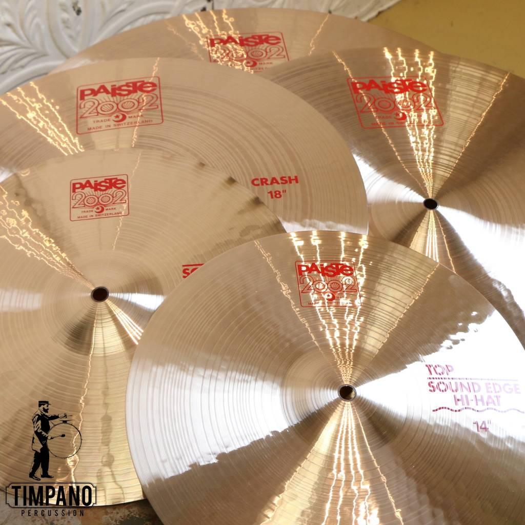 Paiste Ensemble de cymbales Paiste 2002 14-20-22 + 18po gratuite