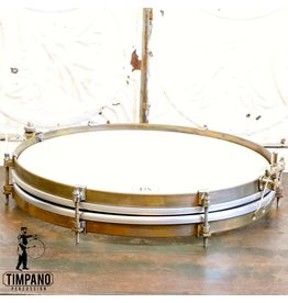 A&F Drum Co A&F Pancake Brass Snare Drum 14X1.5in