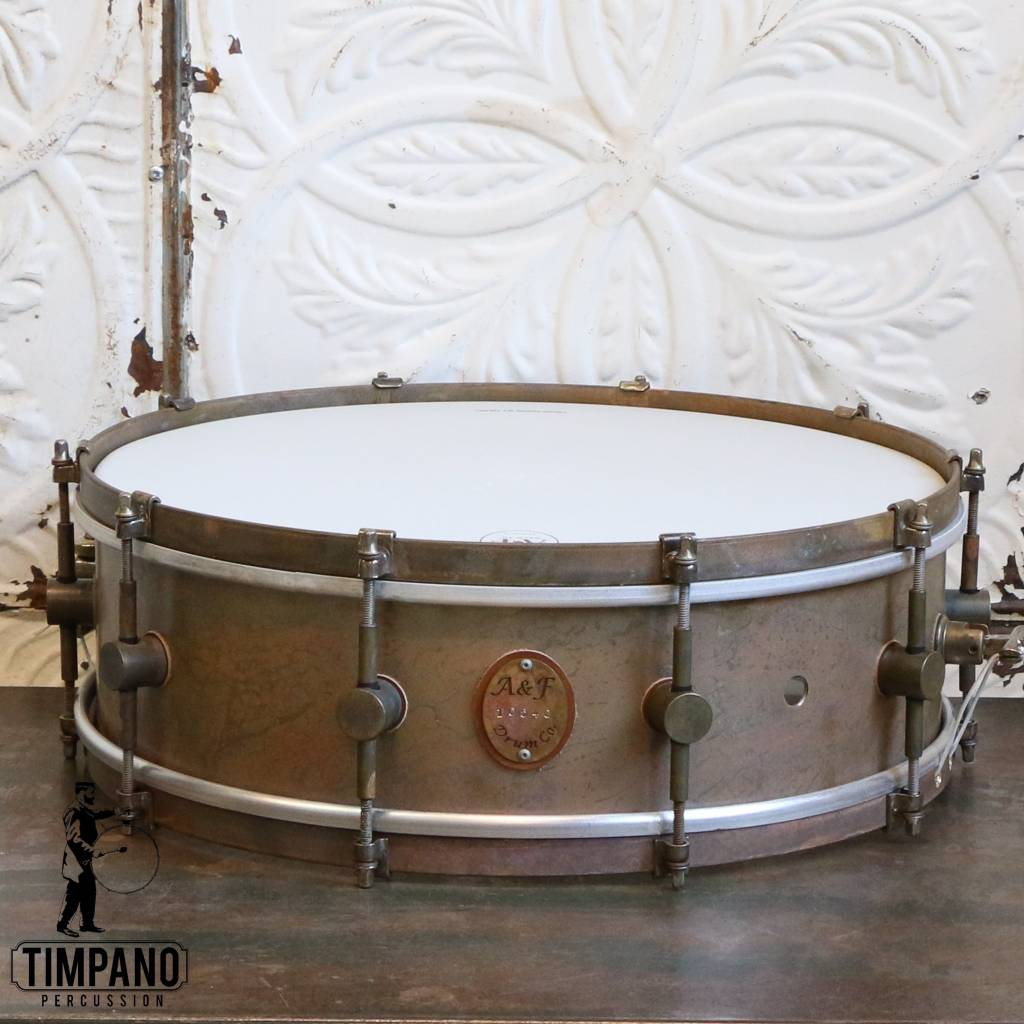 A&F Drum Co Caisse claire A&F Standard Brass 16X5po