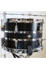 Q Drum Company Batterie Q Drum Maple Satin Black/Chrome 22-12-16po