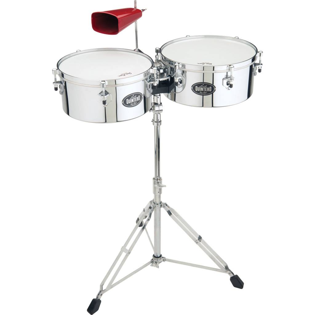 "Gon Bops Gon Bops Tumbao Series 14"" & 15"" Chrome with Stand & Cowbell Holder"