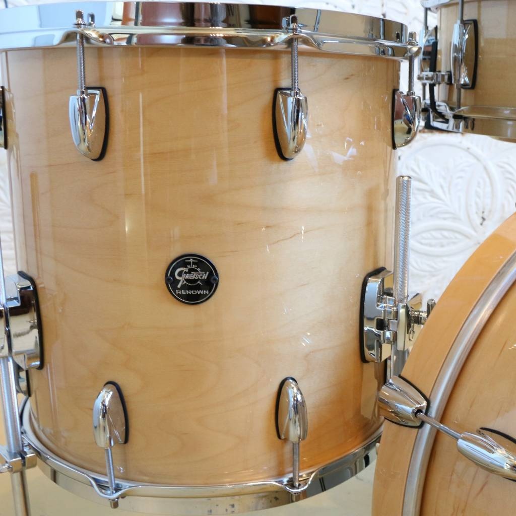 Gretsch Batterie Gretsch Renown Gloss Natural 20-10-12-14 + caisse claire 14po