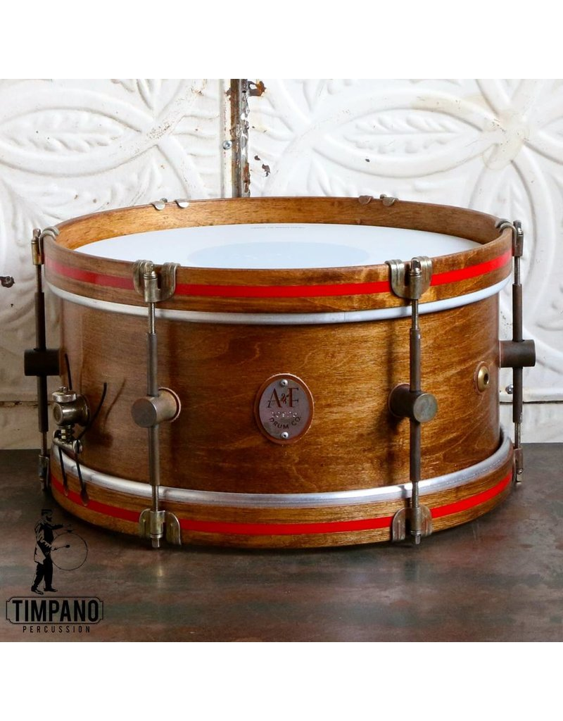 A&F Drum Co Caisse claire A&F Whiskey Maple 14X6.5po
