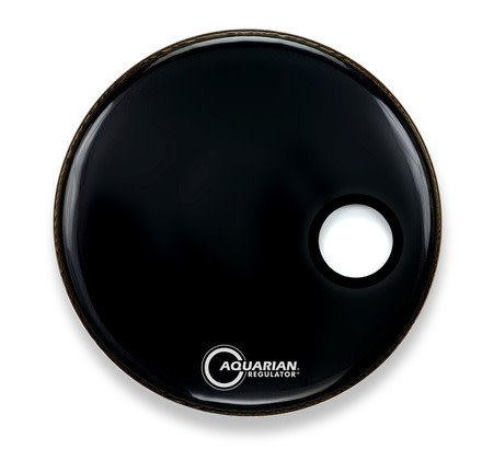 Aquarian Peau résonnante de grosse caisse Aquarian Regulator SM noire 22po