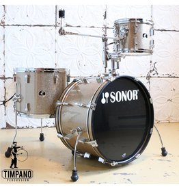 Sonor Batterie usagée Sonor Player Gold Galaxy Sparkle 20-10-14po + support de tom/bras de cymbale