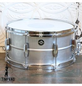 Q Drum Company Q Drum Co Gentlemen's Aluminum Snare Drum 14X7in