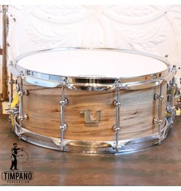 Unix Unix Spalted Maple Steambent Snare Drum 14X6in