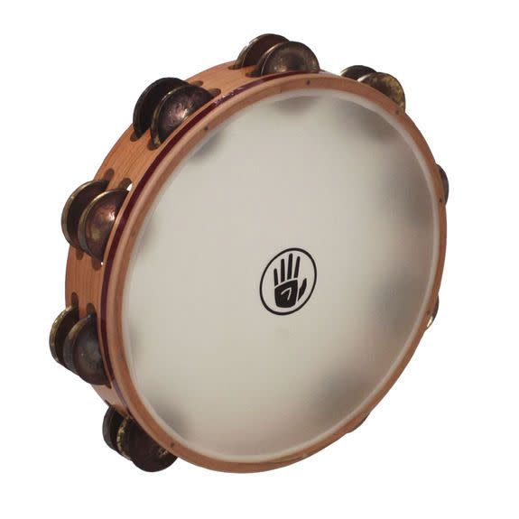 Black Swamp Percussion Tambourine Black Swamp Aged Brass Peau Synthétique 10po