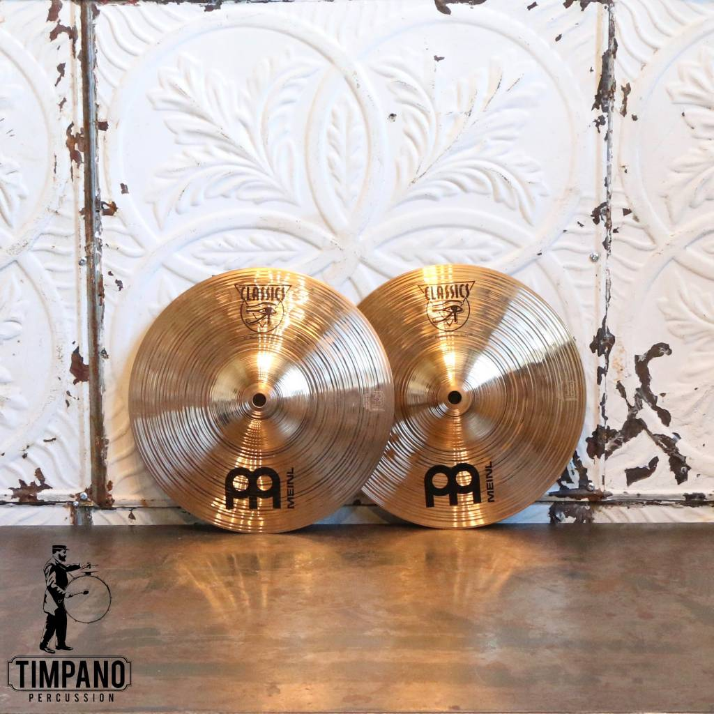 Used Meinl Classic Medium Hi-hat Cymbals 10in