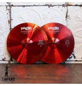 Paiste Cymbales hi-hat usagées Paiste Colorsound Heavy 14po