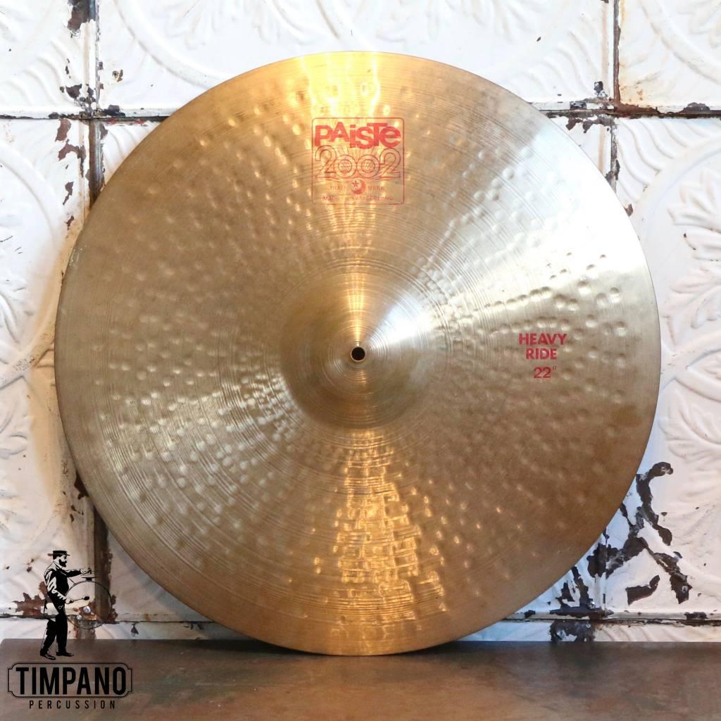 Paiste Cymbale ride usagée Paiste 2002 Heavy 22po