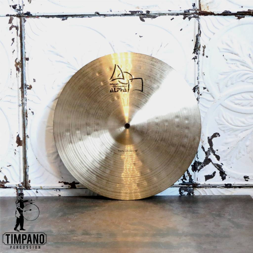 Paiste Cymbale crash usagée Paiste Alpha Thin 16po