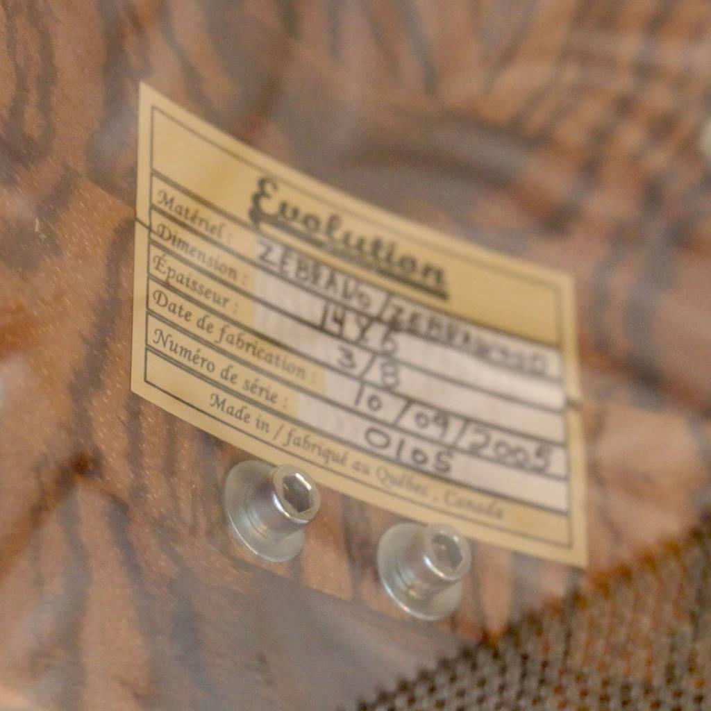 Caisse claire usagée Evolution Zebrawood 14X6po