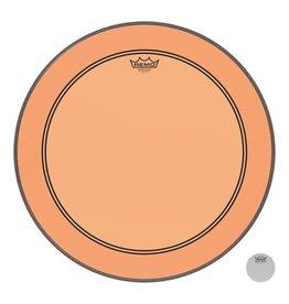 Remo Peau Powerstroke P3 Colortone Orange Bass 22po 5po Offset Hole