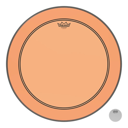 Remo Powerstroke P3 Colortone Orange Bass Head 24in 5in Offset Hole