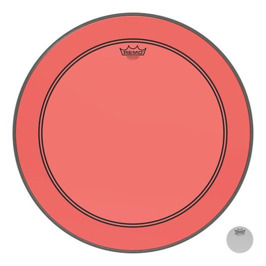 Remo Powerstroke P3 Colortone Red Bass Head 26in