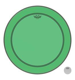 Remo Peau Powerstroke P3 Colortone Vert Bass 22po 5po Offset Hole