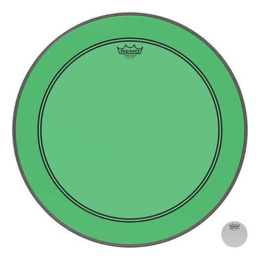 Remo Peau Powerstroke P3 Colortone Vert Bass 24po