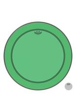 Remo Peau Powerstroke P3 Colortone Vert Bass 24po 5po Offset Hole