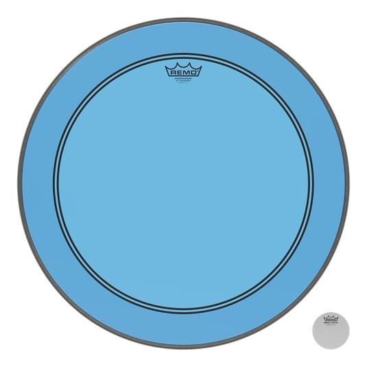 Remo Peau Powerstroke P3 Colortone Bleu Bass 24po 5po Offset Hole