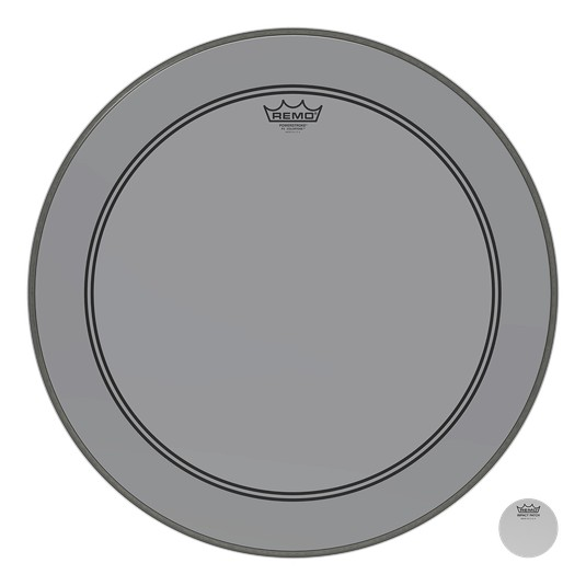 Remo Powerstroke P3 Colortone Smoke Bass Head 26in 5in Offset Hole