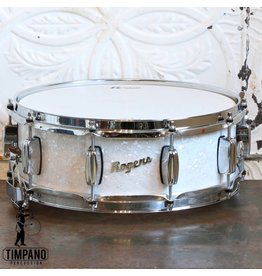 Rogers Dyna-Sonic White Marine Pearl Snare Drum 14X5in