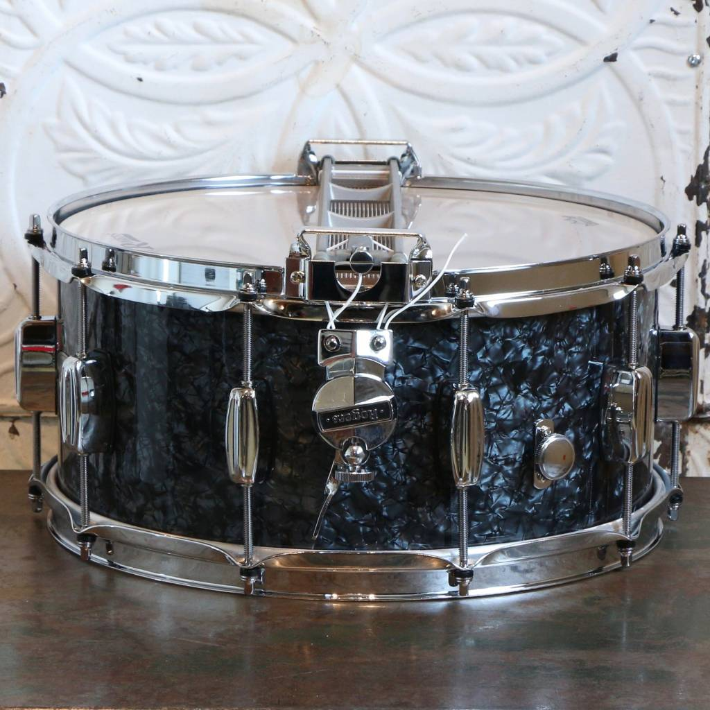 Caisse claire Rogers Dyna-Sonic Black Pearl 14X6.5po