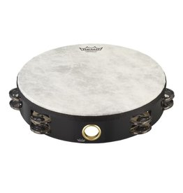 Remo Remo Tambourine with head and 2 rows of jingles 10in