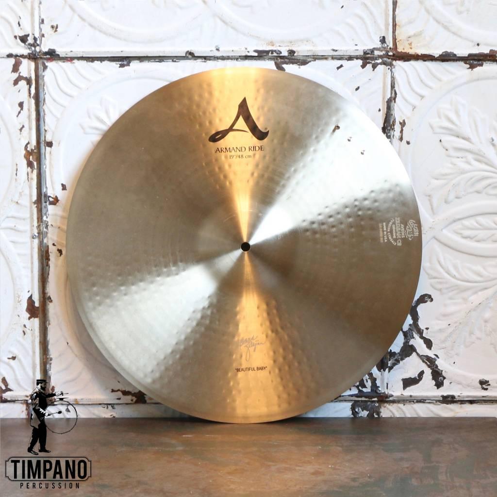 """Zildjian Used Zildjian Armand Ride """"Beautiful Baby"""" Ride Cymbal 19in with rivets"""