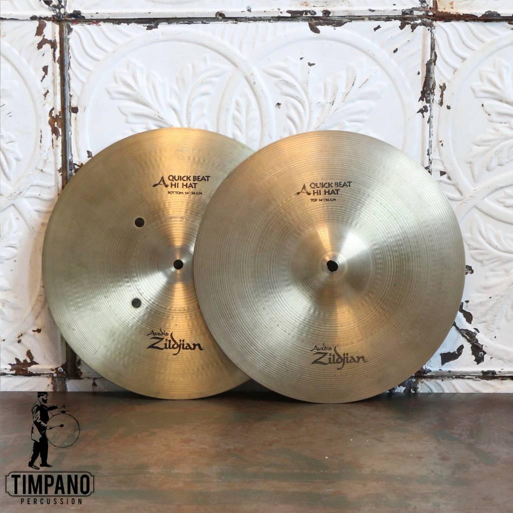 Zildjian Used Zildjian A Quick Beat Hi-hat Cymbals