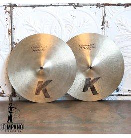 Zildjian Used Zildjian K Custom Dark Hi-hat Cymbals 14in