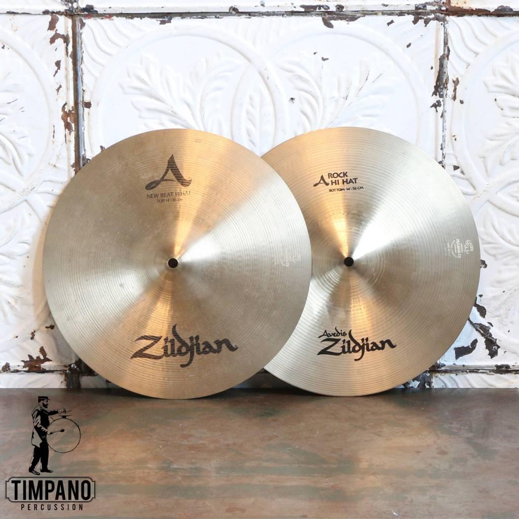 Zildjian Cymbales hi-hat usagées Zildjian combo A Rock/A New Beat 14po