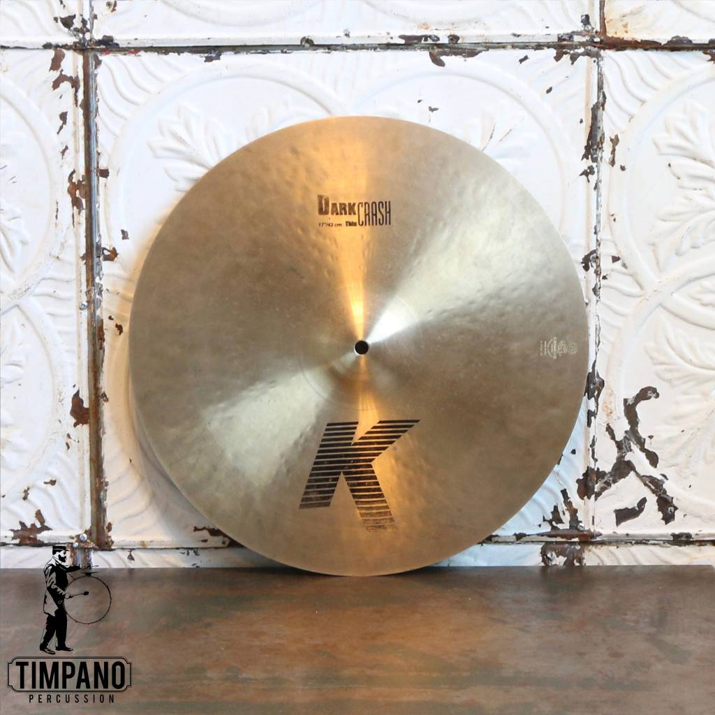 Zildjian Cymbale crash usagée Zildjian K Dark Thin 17po