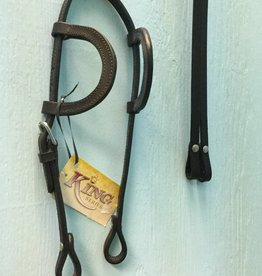 King Series Two Ear Headstall Dark Oil Mini