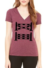 SPICED EQUESTRIAN Spiced One Stride V Neck T-Shirt - Rosewood
