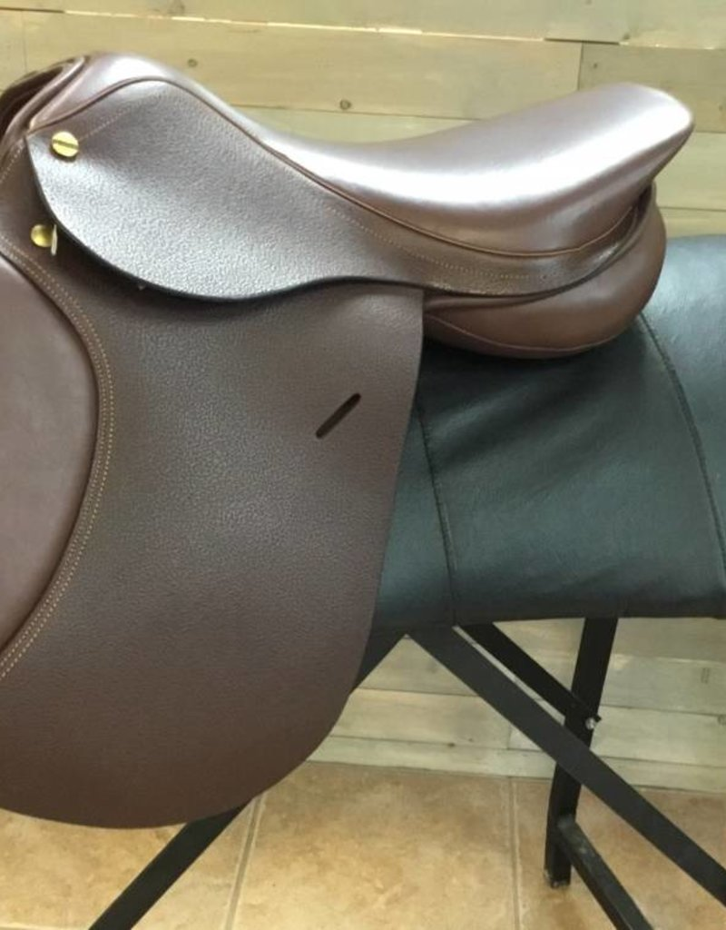 "HENRI DE RIVAL LEATHER HDR Advantage Close Contact Saddle 17"" Wool Flocked - Oakbark"