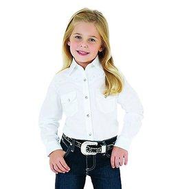WRANGLER Wrangler Girl's Snap Long Sleeve Western Shirt-White