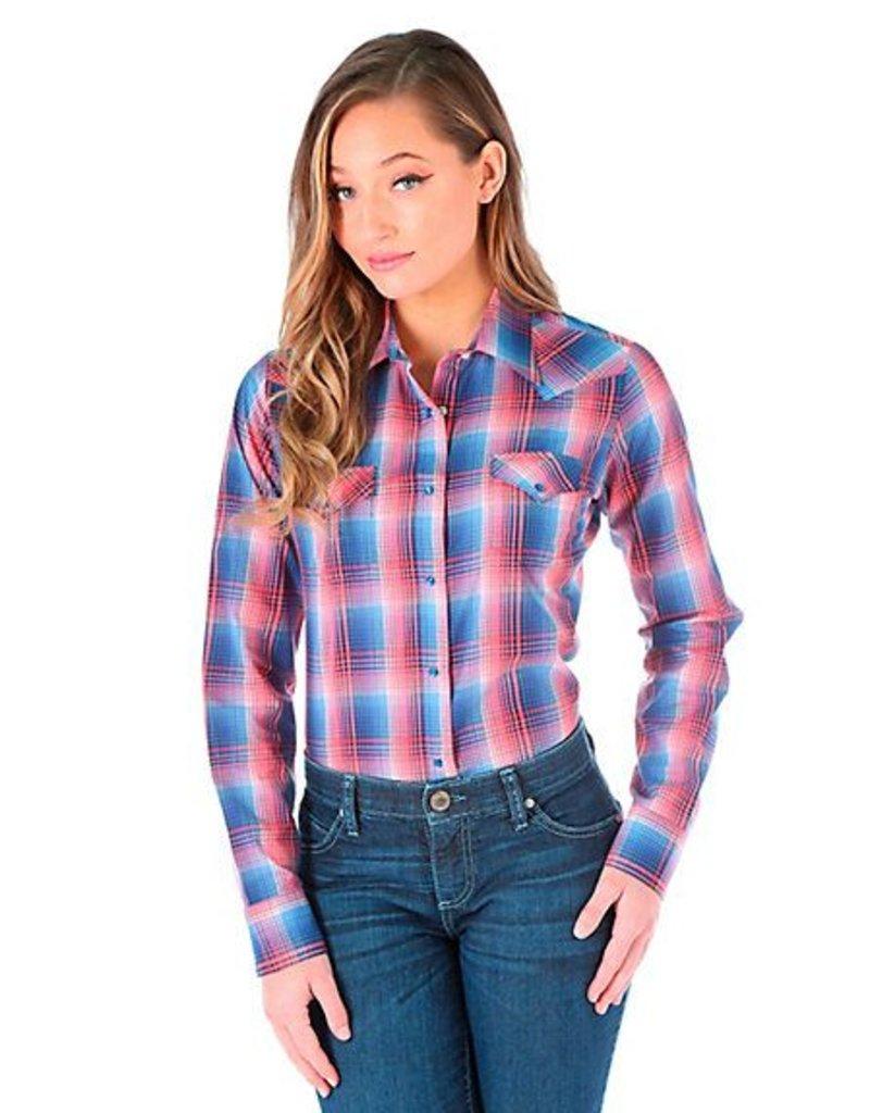 WRANGLER Wrangler Ladies' Long Sleeve Plaid Shirt