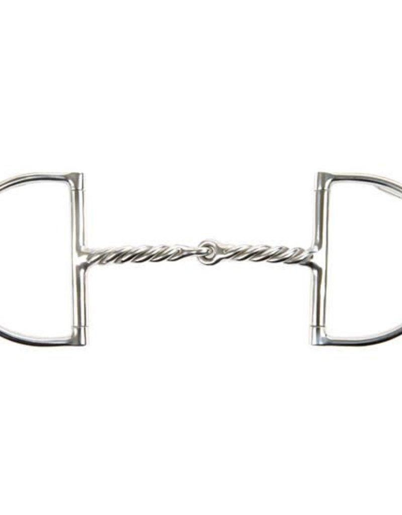 KORSTEEL KORSTEEL Corkscrew Jointed Dee Ring Snaffle
