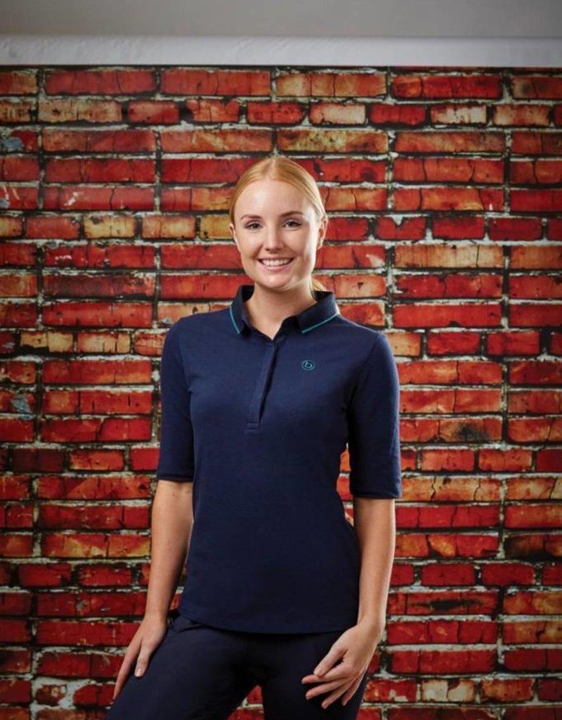 WEATHERBEETA Dublin Lennox 3/4 Sleeve Polo - Navy/Aqua